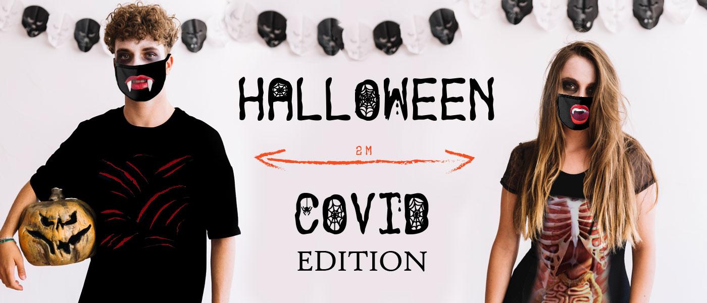 Halloweenská trička a roušky