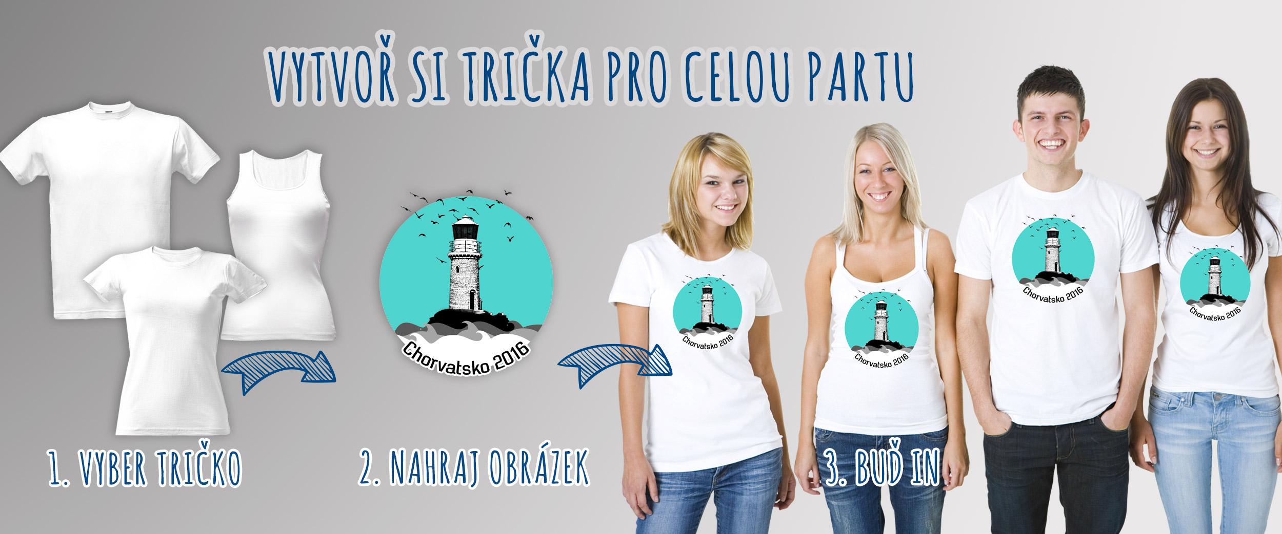 Potisk triček pro skupiny